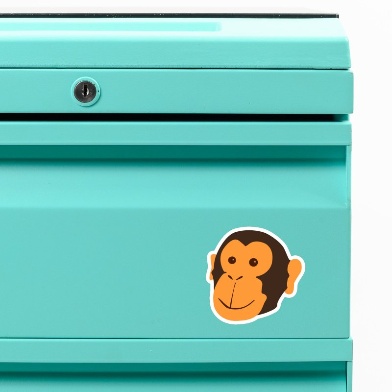 Happy Monkey Accessories Magnet by Boshik's Tshirt Shop