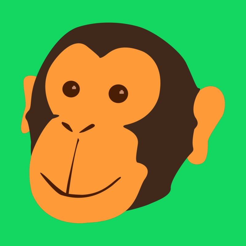 Happy Monkey Home Fine Art Print by Boshik's Tshirt Shop