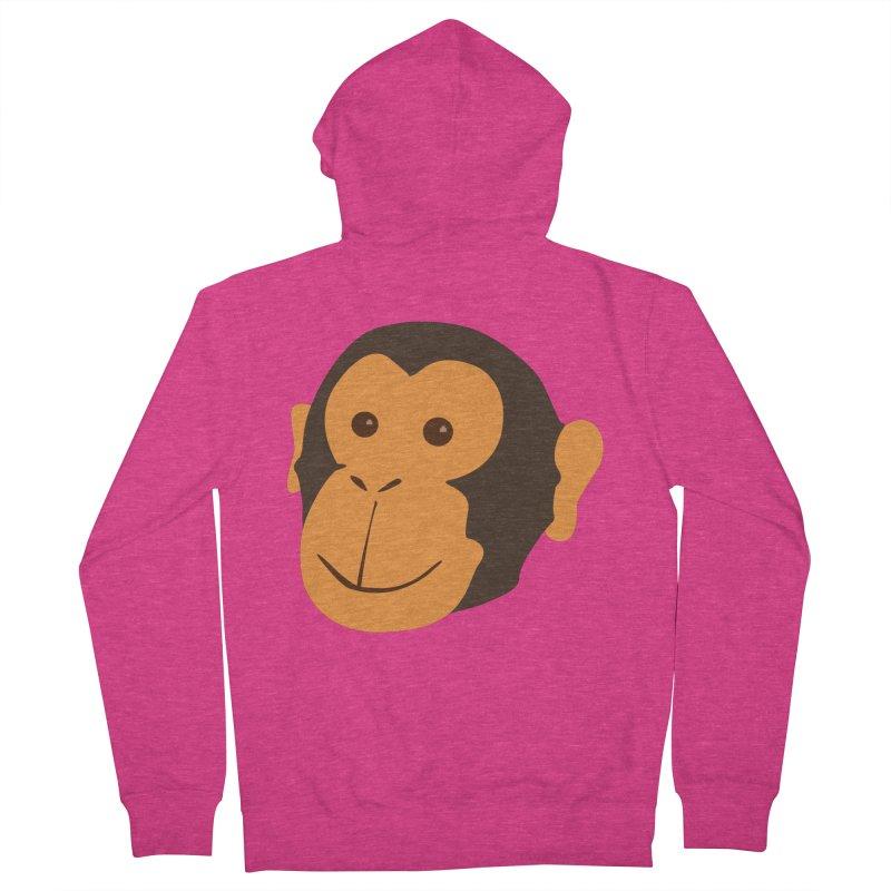 Happy Monkey  Women's Zip-Up Hoody by Boshik's Tshirt Shop