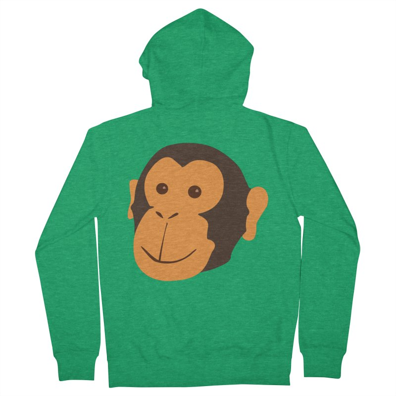 Happy Monkey Men's Zip-Up Hoody by Boshik's Tshirt Shop