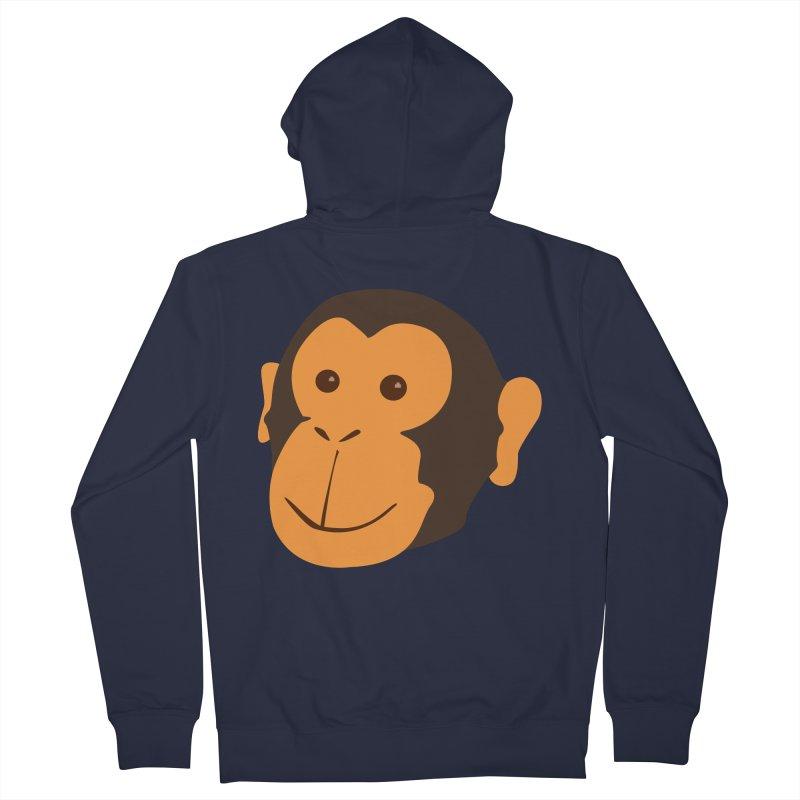 Happy Monkey  Men's Zip-Up Hoody by Boshik's Tshirt Shop