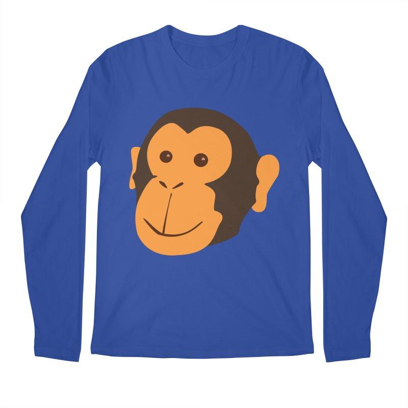 Happy Monkey Men's Regular Longsleeve T-Shirt by Boshik's Tshirt Shop