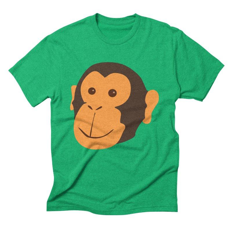Happy Monkey Men's Triblend T-Shirt by Boshik's Tshirt Shop