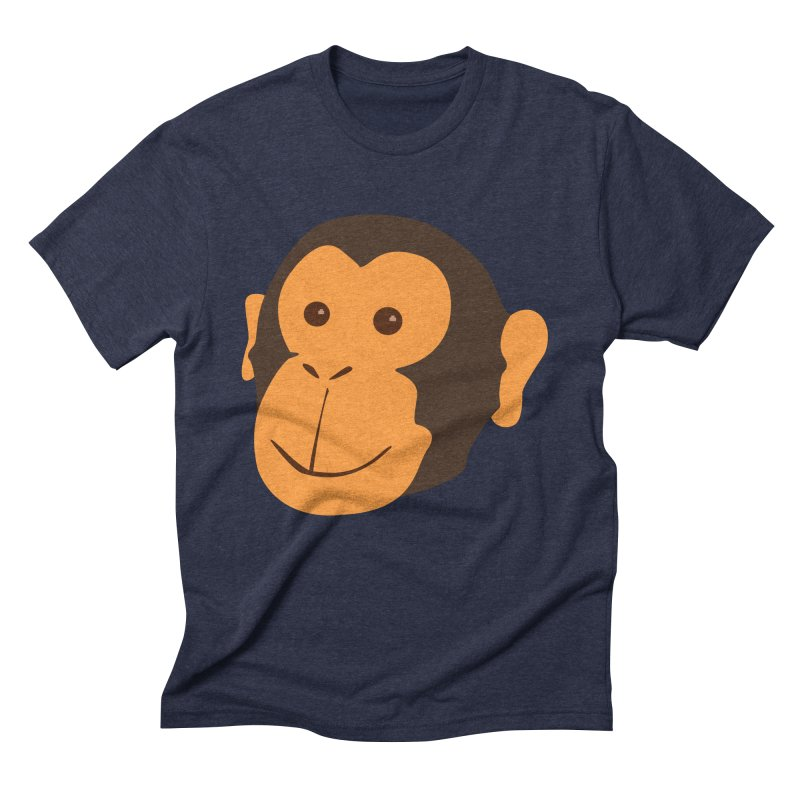 Happy Monkey  Men's Triblend T-Shirt by Boshik's Tshirt Shop