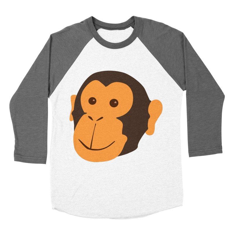 Happy Monkey Women's Baseball Triblend T-Shirt by Boshik's Tshirt Shop