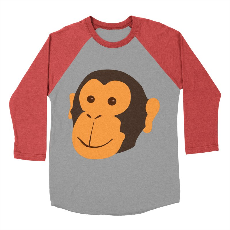 Happy Monkey Women's Baseball Triblend Longsleeve T-Shirt by Boshik's Tshirt Shop