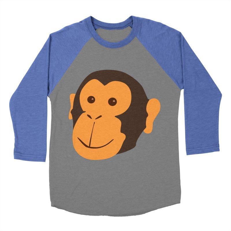 Happy Monkey Men's Baseball Triblend T-Shirt by Boshik's Tshirt Shop