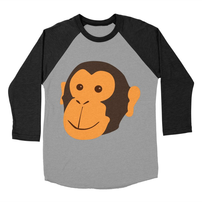 Happy Monkey  Men's Baseball Triblend T-Shirt by Boshik's Tshirt Shop