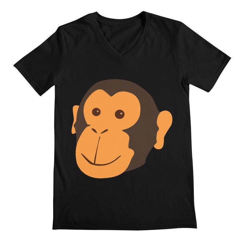 Happy Monkey  Men's V-Neck by Boshik's Tshirt Shop