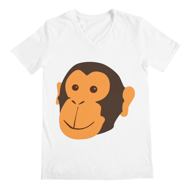 Happy Monkey Men's V-Neck by Boshik's Tshirt Shop