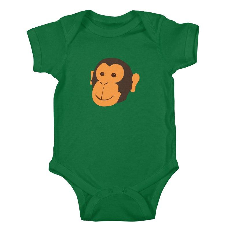 Happy Monkey  Kids Baby Bodysuit by Boshik's Tshirt Shop