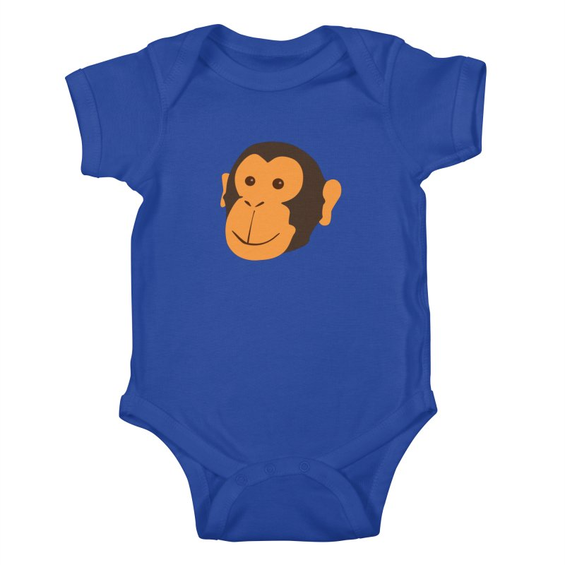 Happy Monkey Kids Baby Bodysuit by Boshik's Tshirt Shop