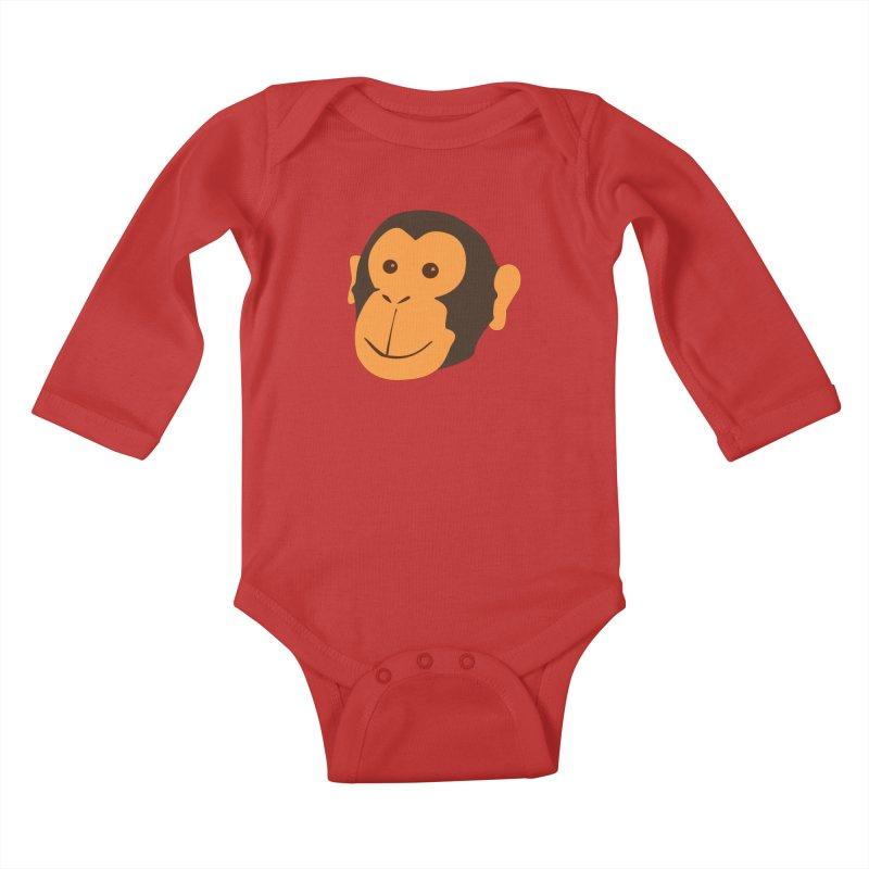 Happy Monkey Kids Baby Longsleeve Bodysuit by Boshik's Tshirt Shop