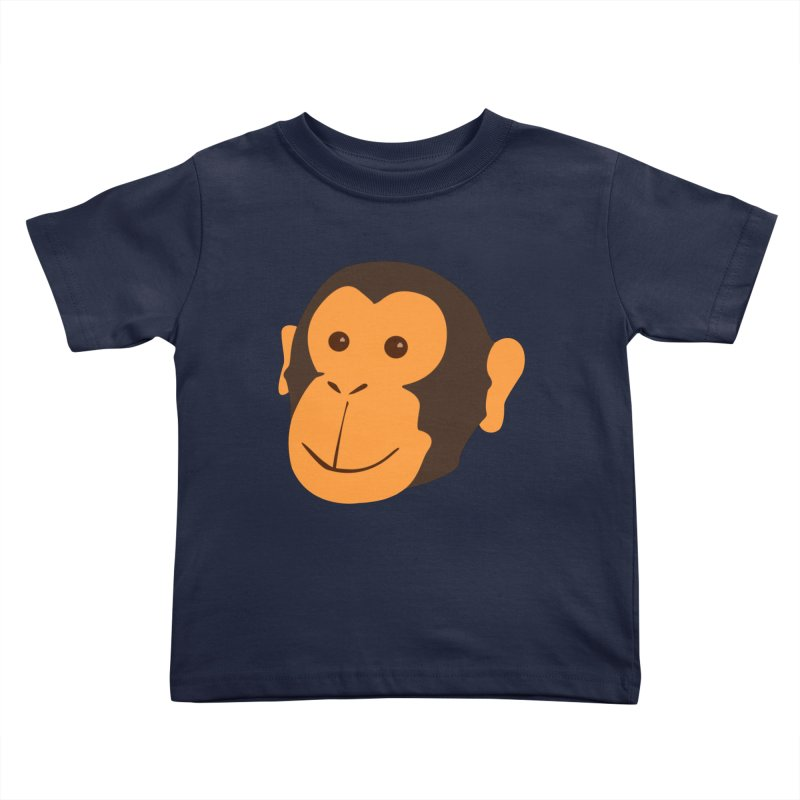 Happy Monkey  Kids Toddler T-Shirt by Boshik's Tshirt Shop