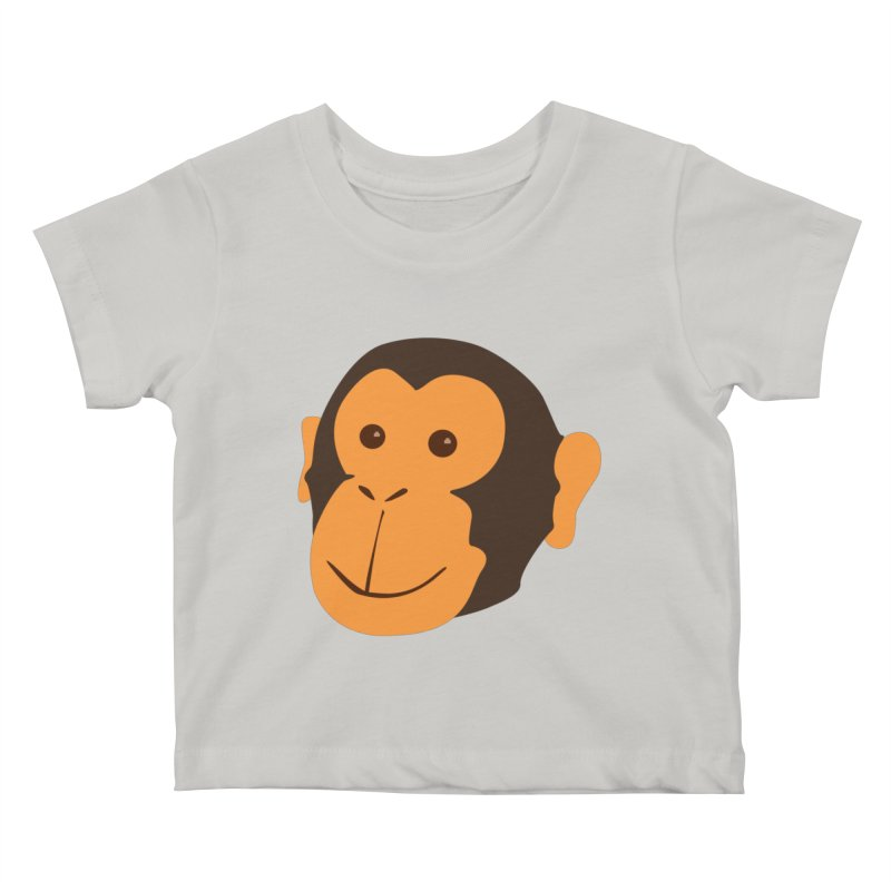 Happy Monkey  Kids Baby T-Shirt by Boshik's Tshirt Shop
