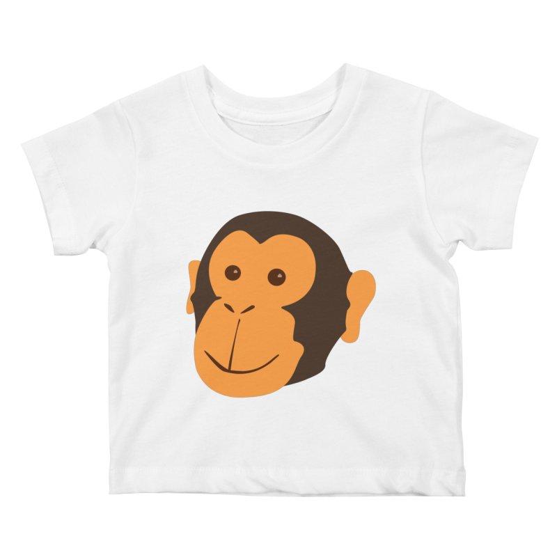 Happy Monkey  Kids Baby T-Shirt by Boshik's Tshirt Shop