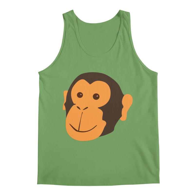 Happy Monkey Men's Tank by Boshik's Tshirt Shop