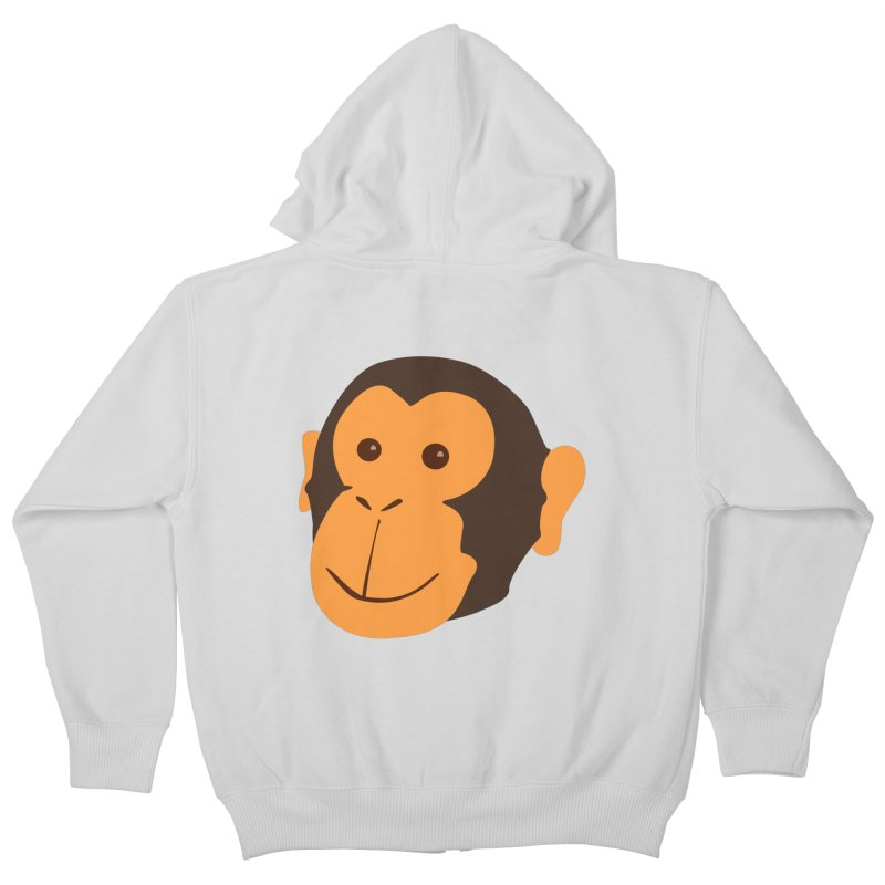 Happy Monkey  Kids Zip-Up Hoody by Boshik's Tshirt Shop