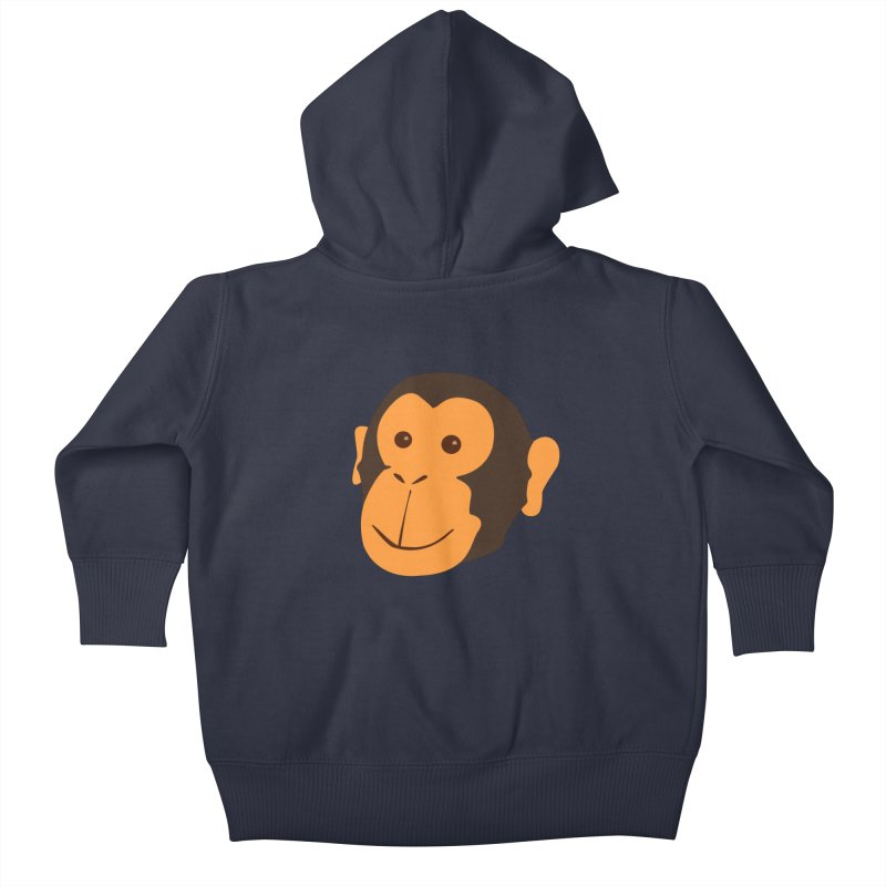 Happy Monkey  Kids Baby Zip-Up Hoody by Boshik's Tshirt Shop