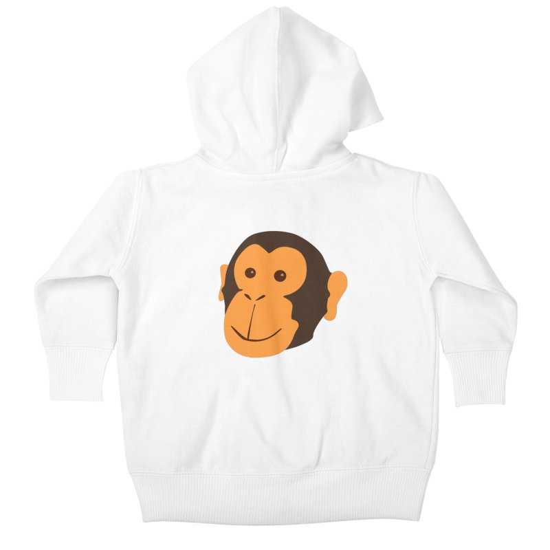Happy Monkey Kids Baby Zip-Up Hoody by Boshik's Tshirt Shop