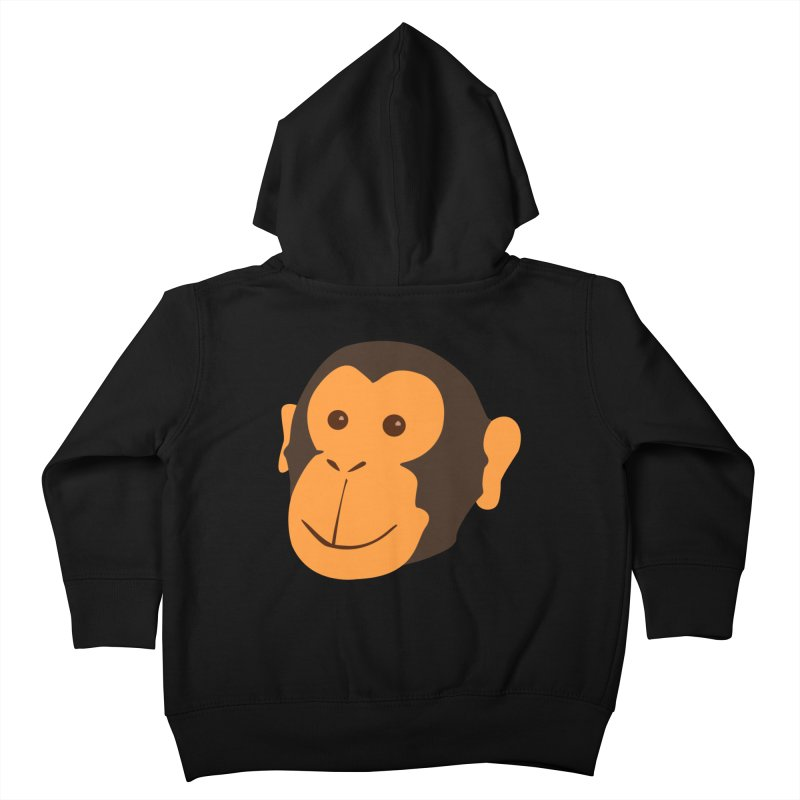Happy Monkey  Kids Toddler Zip-Up Hoody by Boshik's Tshirt Shop