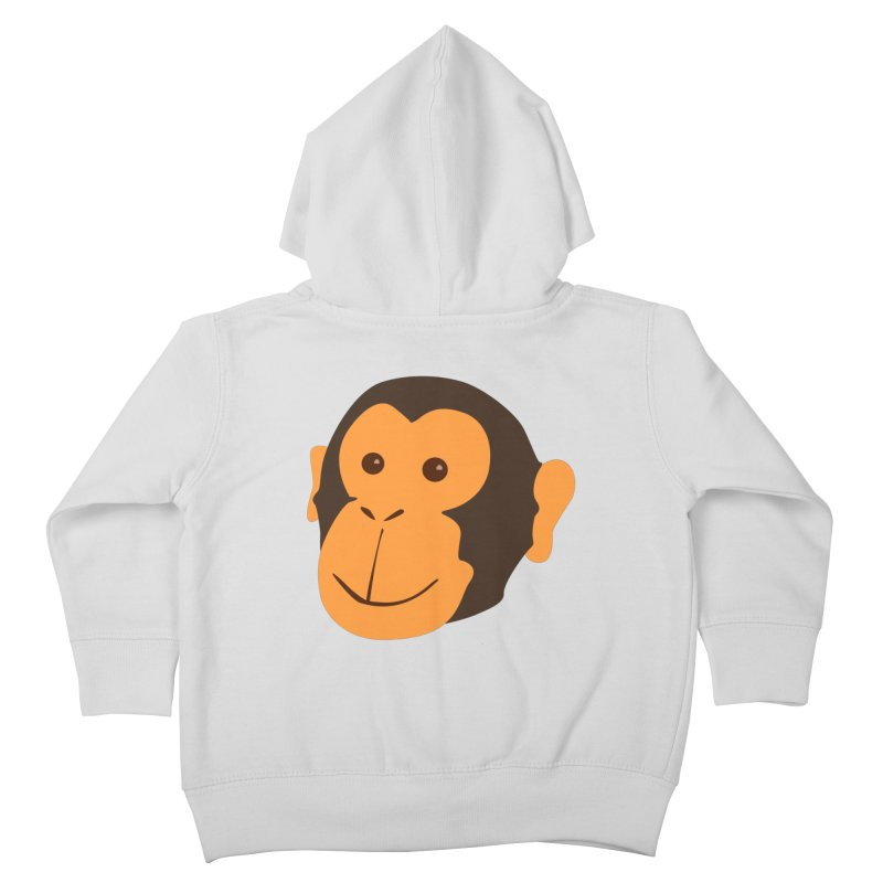 Happy Monkey  Kids Toddler Zip-Up Hoody by Boshik's Tshirt Shop
