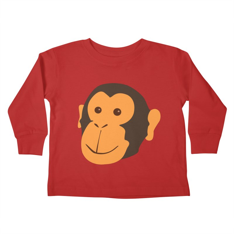 Happy Monkey  Kids Toddler Longsleeve T-Shirt by Boshik's Tshirt Shop