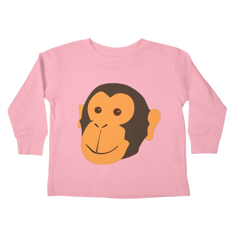 Happy Monkey  Kids Toddler Longsleeve T-Shirt by Boshik's Tshirt Shop
