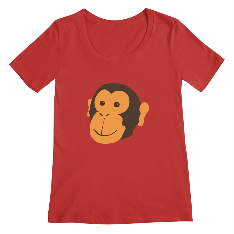 Happy Monkey Women's Regular Scoop Neck by Boshik's Tshirt Shop