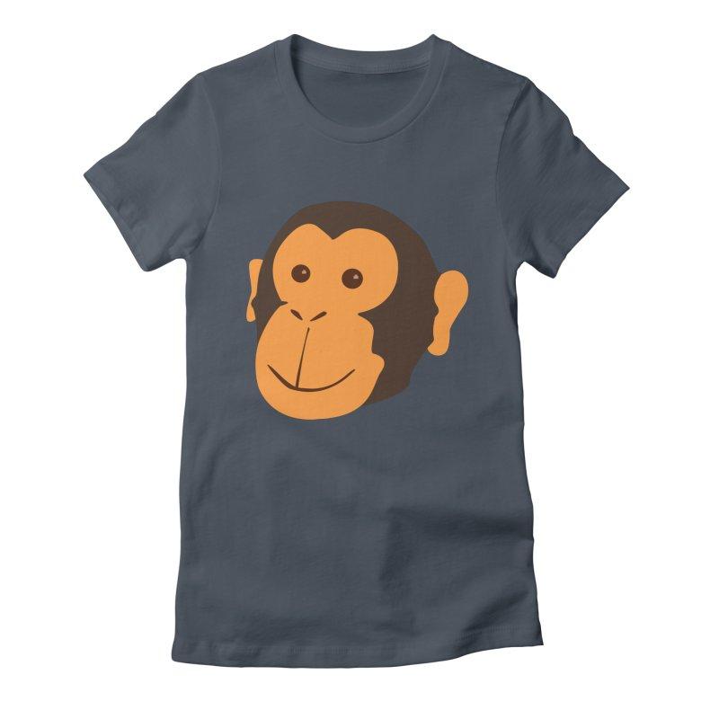 Happy Monkey Women's T-Shirt by Boshik's Tshirt Shop
