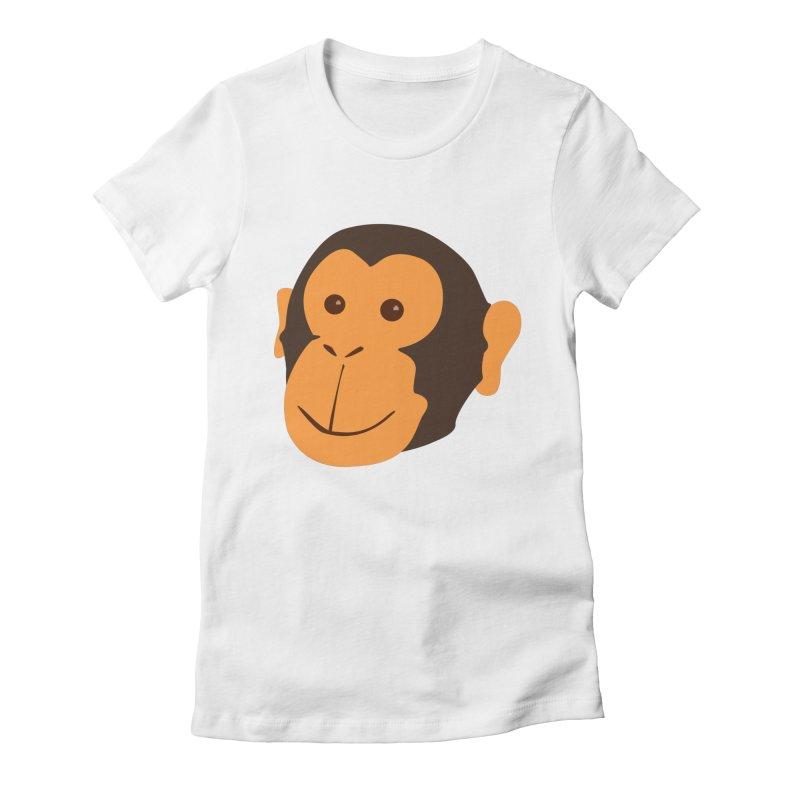 Happy Monkey Women's Fitted T-Shirt by Boshik's Tshirt Shop
