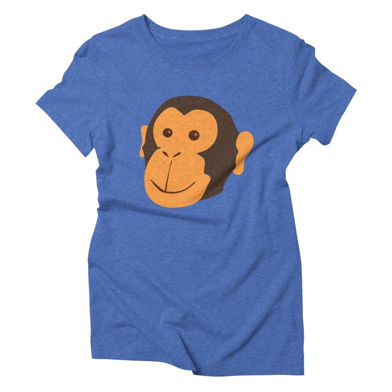 Happy Monkey Women's Triblend T-Shirt by Boshik's Tshirt Shop