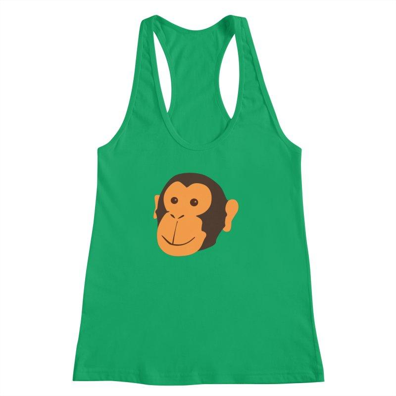 Happy Monkey Women's Racerback Tank by Boshik's Tshirt Shop