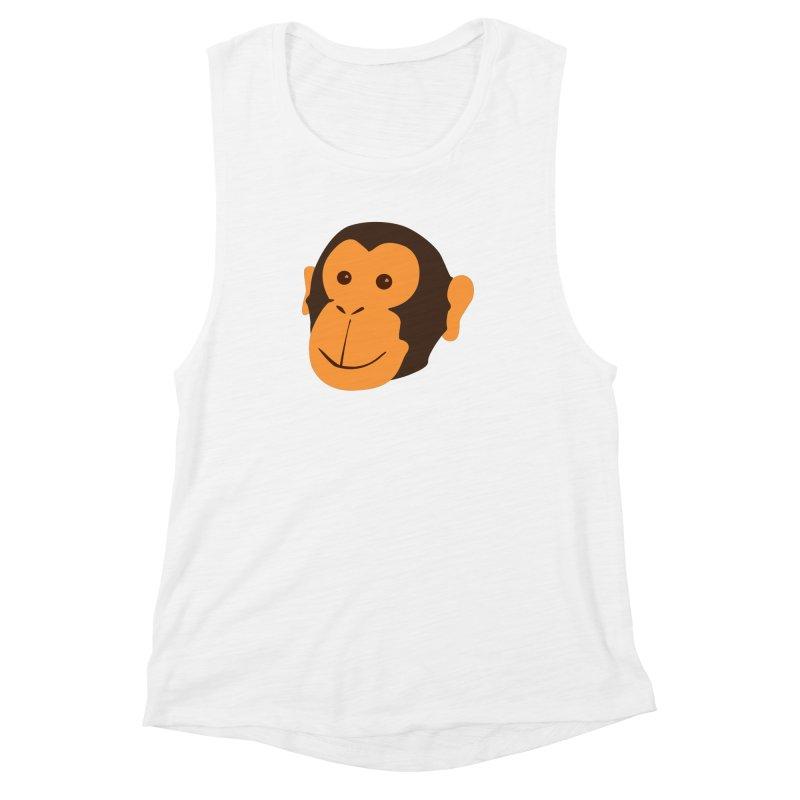 Happy Monkey  Women's Muscle Tank by Boshik's Tshirt Shop