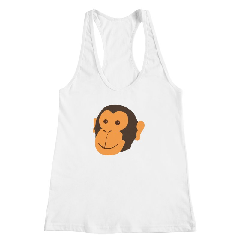 Happy Monkey Women's Racerback Tank by Boshik's Tshirt Shop