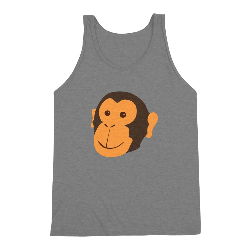 Happy Monkey Men's Triblend Tank by Boshik's Tshirt Shop