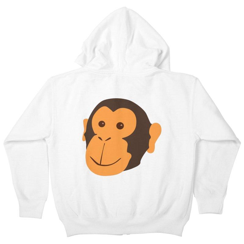 Happy Monkey  Kids Zip-Up Hoody by Boshik's Tshirt Shop