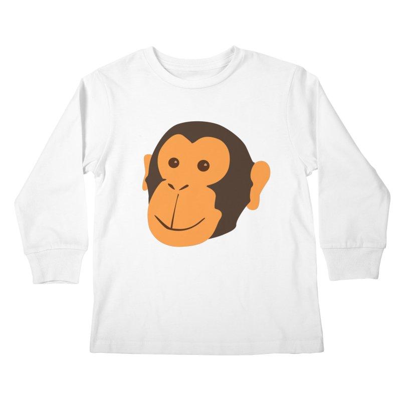 Happy Monkey  Kids Longsleeve T-Shirt by Boshik's Tshirt Shop