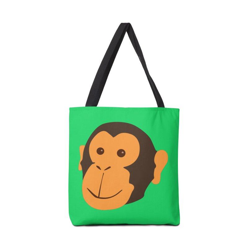 Happy Monkey Accessories Tote Bag Bag by Boshik's Tshirt Shop
