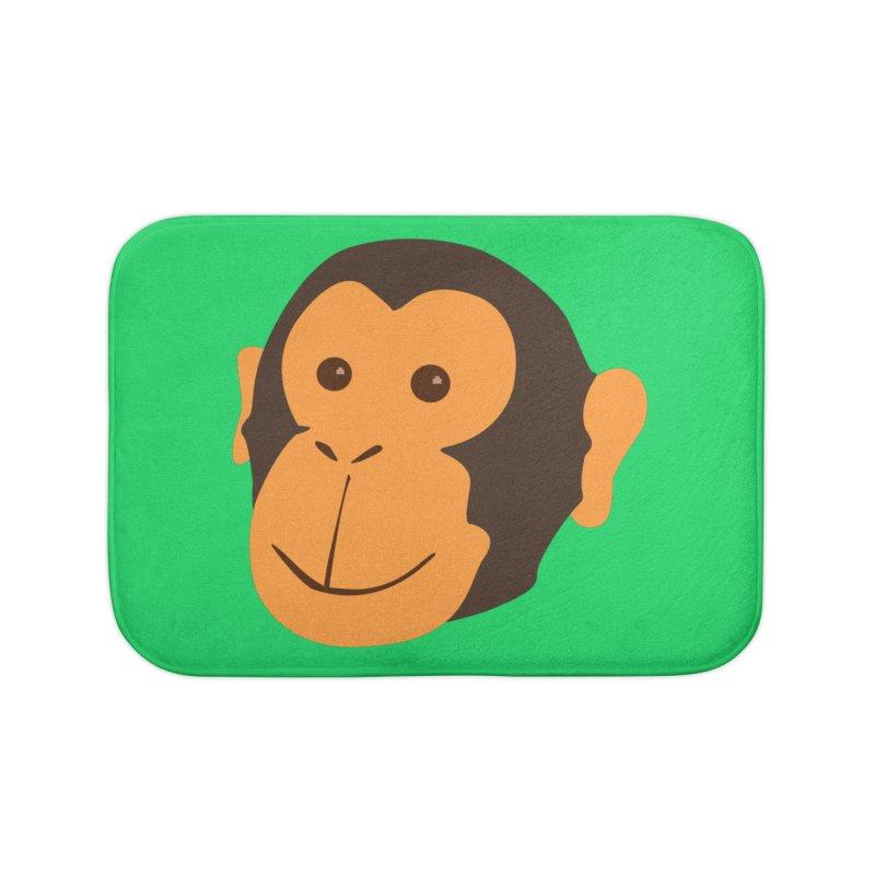 Happy Monkey  Home Bath Mat by Boshik's Tshirt Shop