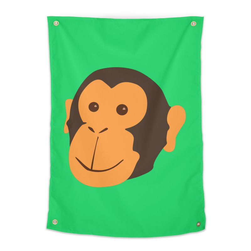 Happy Monkey Home Tapestry by Boshik's Tshirt Shop
