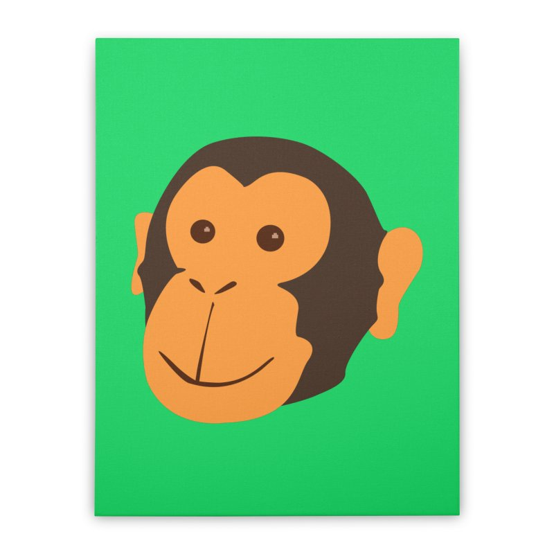 Happy Monkey  Home Stretched Canvas by Boshik's Tshirt Shop