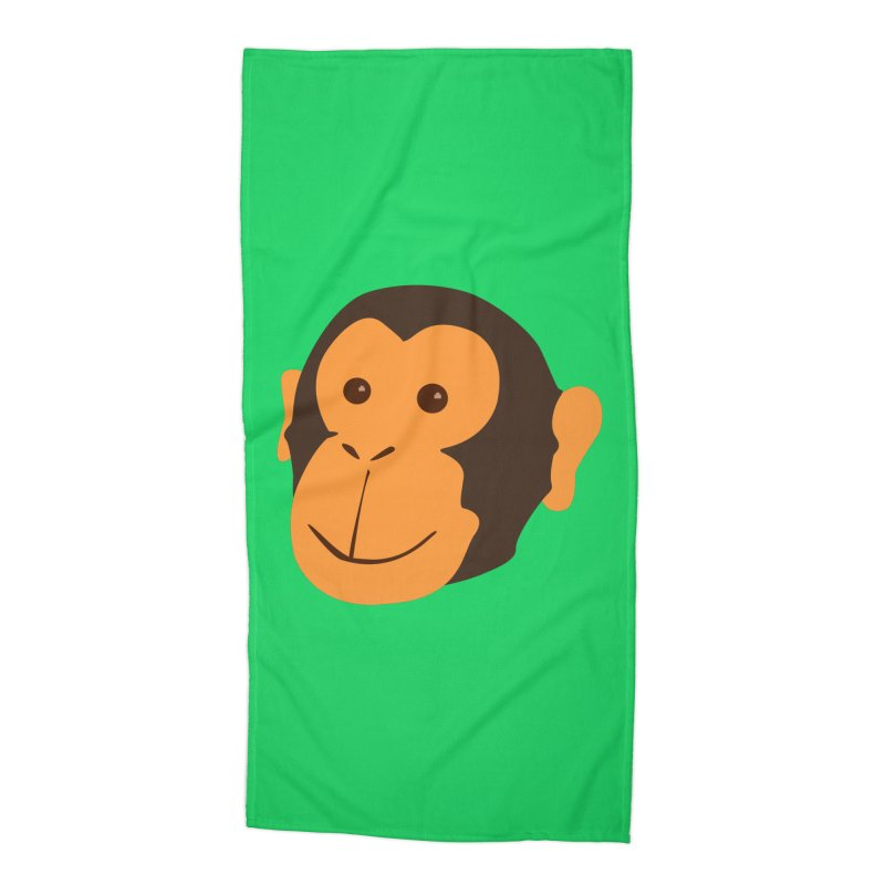 Happy Monkey Accessories Beach Towel by Boshik's Tshirt Shop