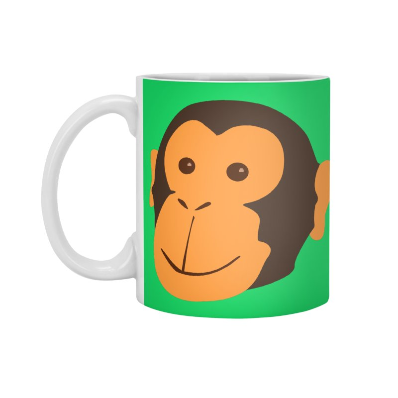 Happy Monkey Accessories Mug by Boshik's Tshirt Shop