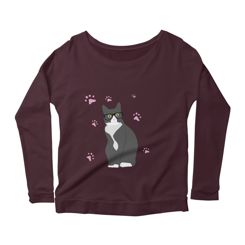 C is for Cat Women's Longsleeve Scoopneck  by Boshik's Tshirt Shop