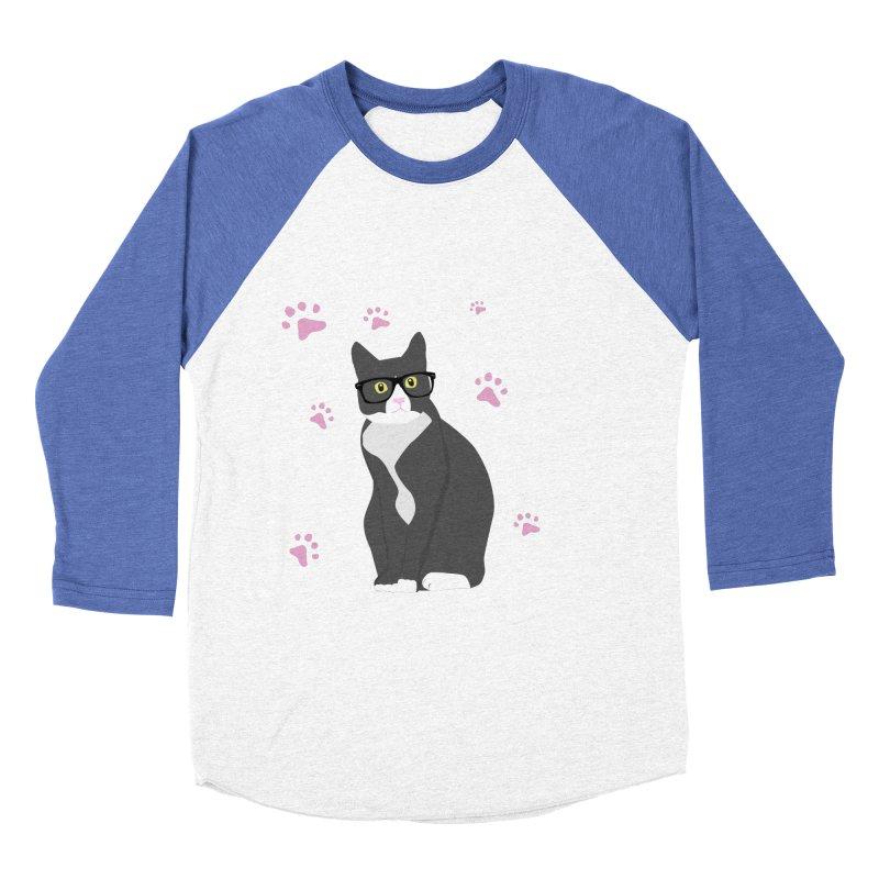 C is for Cat Women's Baseball Triblend T-Shirt by Boshik's Tshirt Shop