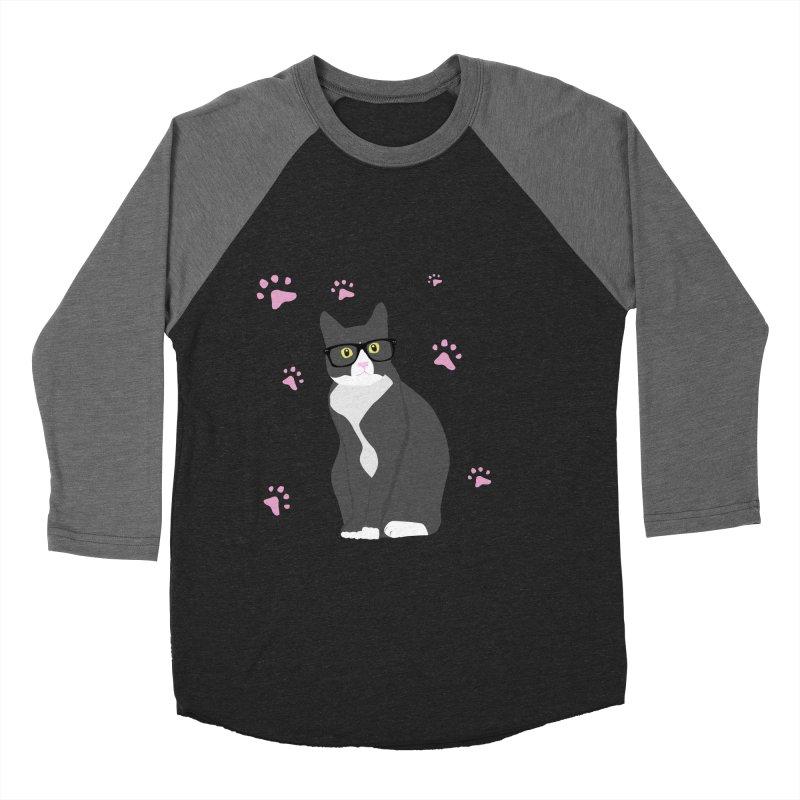 C is for Cat Women's Baseball Triblend Longsleeve T-Shirt by Boshik's Tshirt Shop