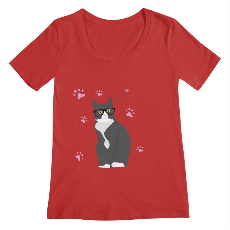 C is for Cat Women's Regular Scoop Neck by Boshik's Tshirt Shop