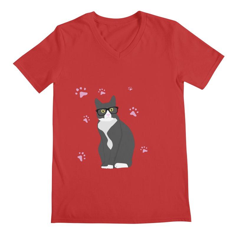 C is for Cat Men's V-Neck by Boshik's Tshirt Shop