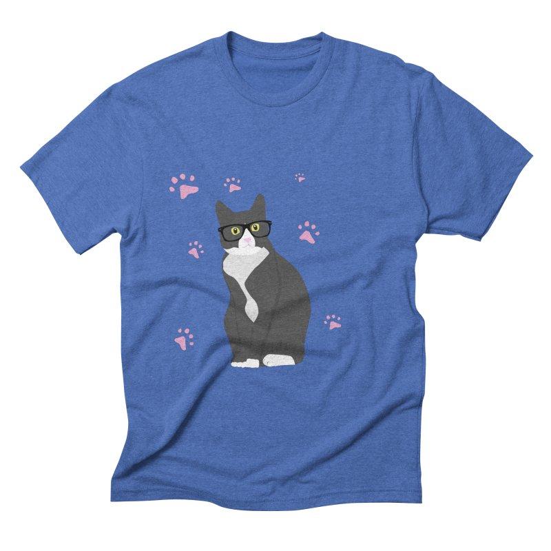 C is for Cat Men's Triblend T-shirt by Boshik's Tshirt Shop